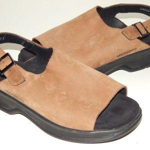 MEPHISTO tan nubuck slingback sandals 37 6 - 6.5